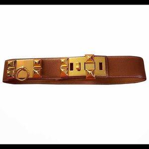 Hermes Collier de Chien Belt Brown Vintage